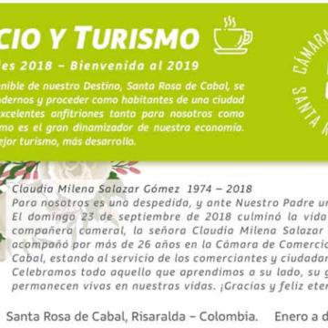 Boletín COMERCIO Y TURISMO – Cámara de Comercio Santa Rosa de Cabal – Actividades 2018 y Bienvenida al 2019