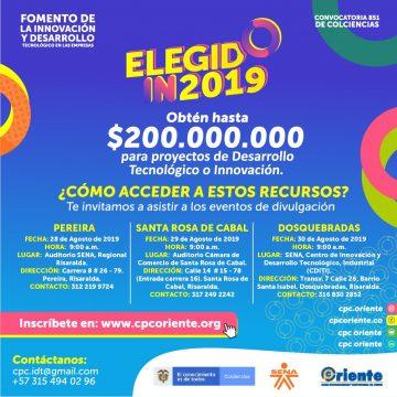 ELEGIDO IN 2019