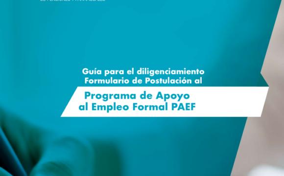 Programa de Apoyo al Empleo Formal PAEF